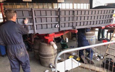 Volunteers Refurbish Barley Wagon